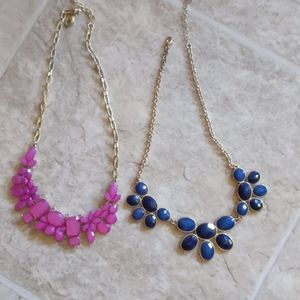 2 charming Charlie statement necklaces